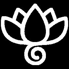 yoga studio aversa - logo bianco